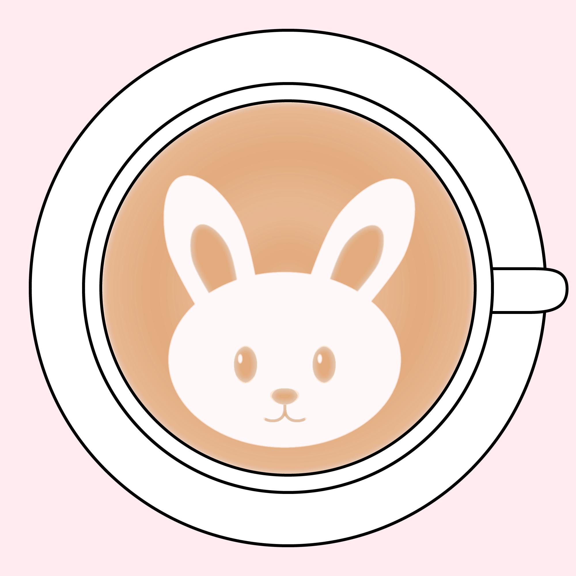 デザインカプチーノ風兎イラスト